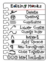 A list of editing symbols
