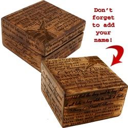 Personalized Writer's Keepsake Box