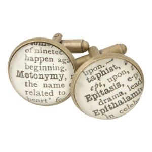 literary cuff links, gifts for writers, father's day, #amwriting, book nerds, writing gifts, dad gifts,