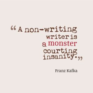 #writer, #amwriting, writing, kafka, writers block